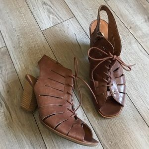 Paul Green Cosmo Lace Up Leather Booties Size 7.5